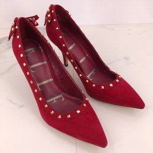 Like New Elle red suede heel shoe